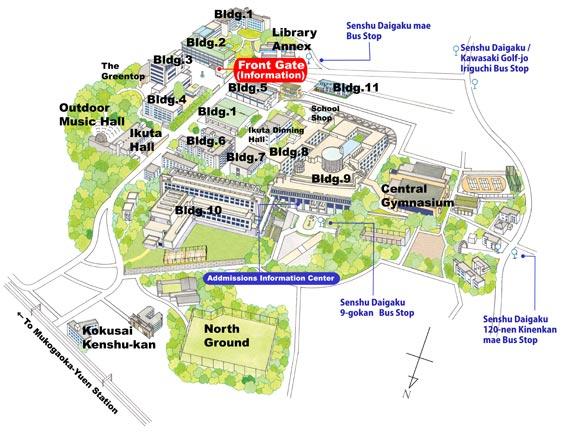 Ikuta Campus - Map and Guide
